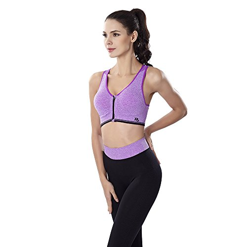 3117fcd2bef Sports Bra and Yoga Pants Gym Outfits Breathable Exercise Bra and Leggings  for Women Purple XL (Sport Suits) - Buy Online in Oman.