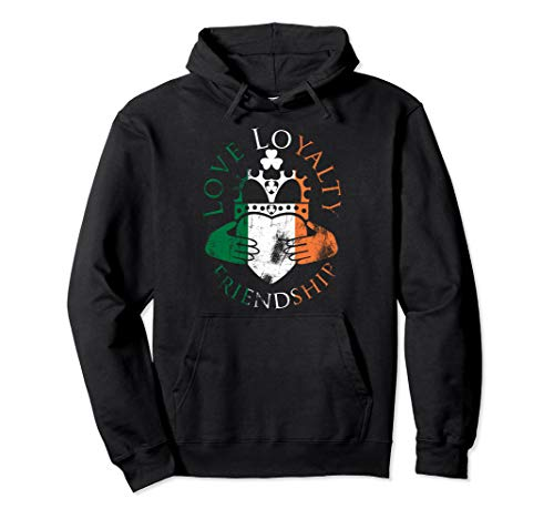 - Irish Flag Claddagh Love Loyalty Friendship Pullover Hoodie