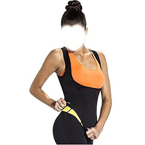 6593787a6f Glive s Women Exercise and Fitness Body Hot Shapers Sweat T-Shirt Slimming  Body Shaper Vest