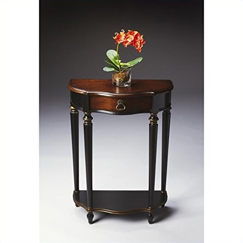 Butler Console Table in Cafe Noir Finish ()