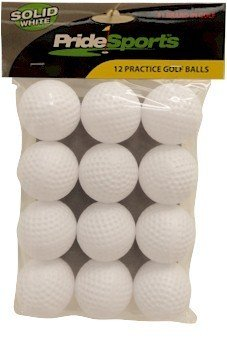 PrideSports Hollow Practice Golf Balls, Pack of 12, Outdoor Stuffs