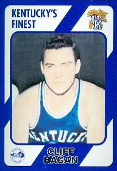 Cliff Hagan Basketball Card (Kentucky) 1989 Collegiate Collection #6