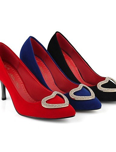 eu42 Puntiagudos 5 5 Noche Rojo red Casual Azul Vell¨®n Tac¨®n cn43 Fiesta Tacones uk8 red y Zapatos Stiletto us10 eu42 Trabajo us10 ZQ cn34 Tacones de mujer 5 eu35 uk8 uk3 Oficina us5 5 Negro y blue 1YCfxq