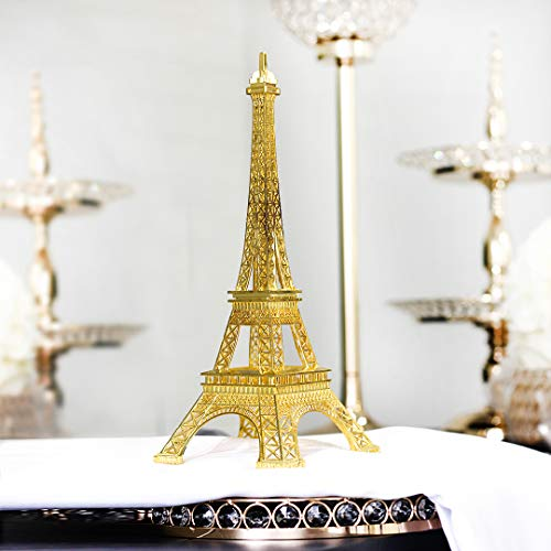 (Firefly Imports Eiffel Tower Paris France Stand, 15-Inch Tall, Gold)