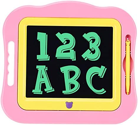 LKJASDHL 7.5インチLCDタブレットの新しい漫画の多彩で創造的な絵画の落書き板の子供のタブレットの執筆板ブギー板 (色 : ピンク)