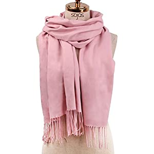 SOJOS Womens Large Soft Cashmere Feel Pashmina Shawls Wraps Winter Scarf SC304