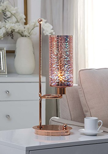 Major-Q 9040132 22″ H Contemporary Style Futuristic Rose Gold Finish Metal Base LED Table Lamp Review