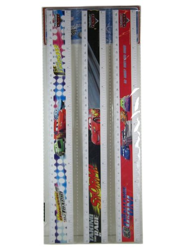 Disney Cars Ruler 3 Pack - Kids School Supplies