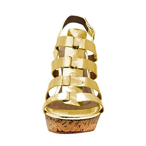 SANDALUP - Sandalia romano para mujer Gold