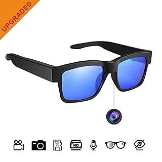 Camera Glasses,Sunglasses Camera Full HD 1080P 65 Degree Angle for Outdoor Use,Mini Video Camera with UV Protection Polarized Lens