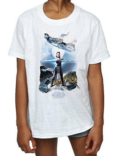 STAR WARS niñas The Last Jedi Rey Falcon Camiseta: Amazon.es: Ropa y accesorios