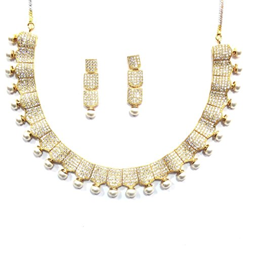 Jewelshingar Jewellery Cubic Zirconia Necklace Set For Girls ( 17342-nad ) by Jewelshingar