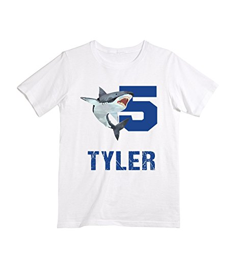 Happy Lion Clothing - Personalized Custom Shark birthday shirt for Boys by Happy Lion Clothing