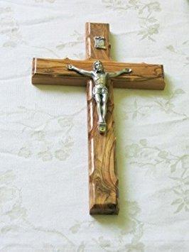 - Wall Cross Crucifix Olive Wood Olivewood Bethlehem Holy Land Jerusalem 10 Inches