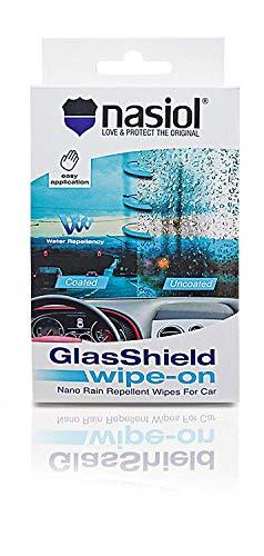 Nasiol GLASSHIELD Wipe-ON Nano RAIN Repellent Wipes for CAR ()