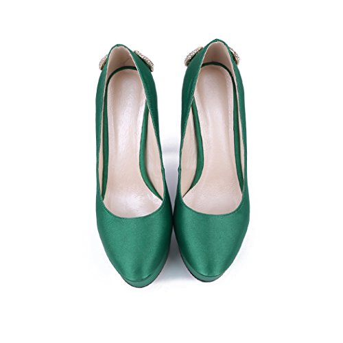 femme Vert vert Semelle compensée Minitoo BqXwKEAq