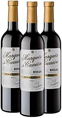 Marqués de Carrión Reserva - Vino Tinto D.O Rioja, Pack de 3 ...