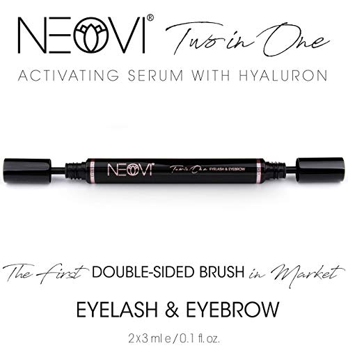 NEOVI Eyelash Eyebrow Enhancing ACTIVATING Growth Serum with HYALURON For Fuller, Longer, Thicker, Stronger, Healthier, Luscious Lashes Brows DERMA-TEST Certified Made in GERMANY 6 ML 0.2 Fl Oz