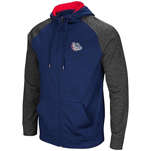 Colosseum Gonzaga University Bulldogs Men's Full ZipHoodie Fleece Jacket (XX-Large) ()