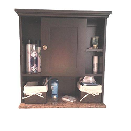 Rustic Wall Mount Cabinet Toilet Bathroom Storage Farmhouse Media Organizer Vintage Faux Marble & eBook OISTRIA by OIT