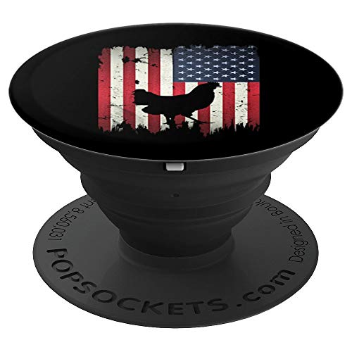 - Chicken USA American Flag 4th of July Patriotic Gift - PopSockets Grip and Stand for Phones and Tablets