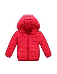 Janeyer Children Boys Girls Winter Down Jacket CHIC Lightweight Anoraks Black