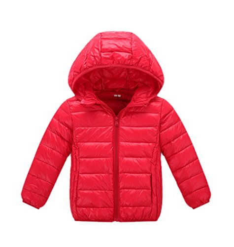 Boys Girls Down Children Anoraks Lemonkids;® Lightweight Jacket Chic Winter Red Black 5nx1qpw