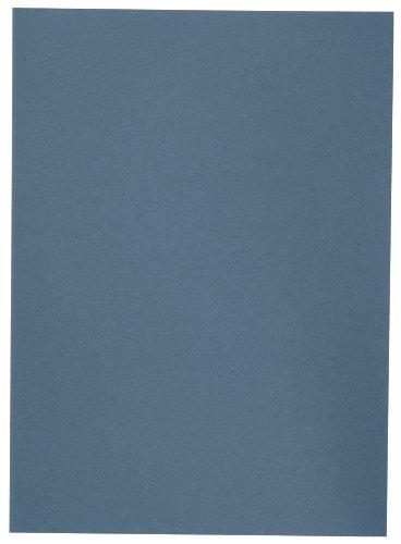 Elba 100091649 Aktendeckel A4, 250 g/m²  Manilakarton, für circa 100 DIN A4-Blätter, 100 Stück, blau