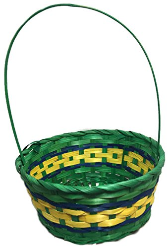 Colorful Woven Wicker Easter Baskets, 16""