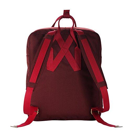 UNK - Bolso  Niños Hombre Mujer Niños-Niñas Niñas rojo oscuro