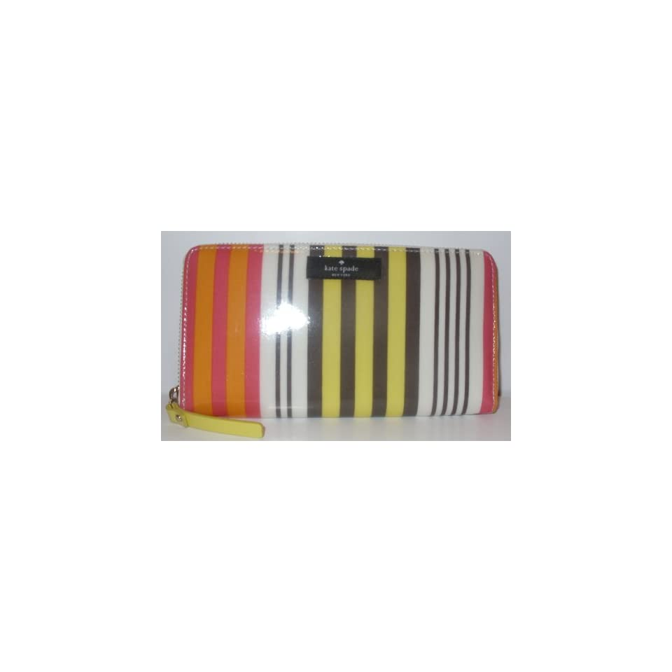 Kate Spade Neda Large Multi Stripe Daycation Clutch Wallet
