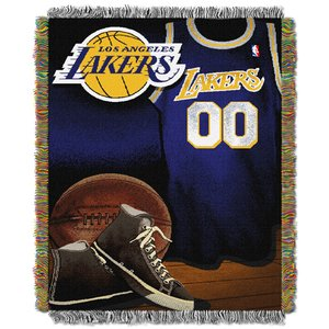 The Northwest Company Officially Licensed NBA Los Angeles Lakers Vintage Woven Tapestry Throw Blanket, 48