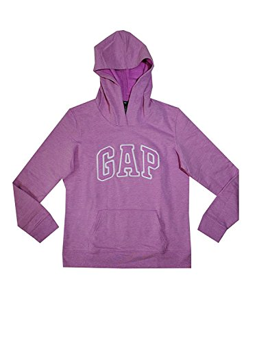 GAP Womens Fleece Arch Logo Pullover Hoodie (XL, Light Purple) from GAP