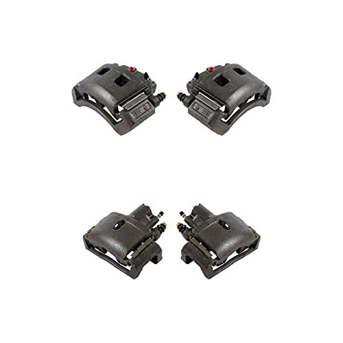 CK01099 FRONT + REAR [ 4 ] Premium Grade Semi-Loaded OE Caliper Assembly Set Kit ()
