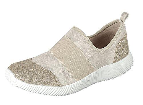 Forever Länk Kvinna Lätt Glitter Stretch Tillfällig Sport Mode Sneaker Guld
