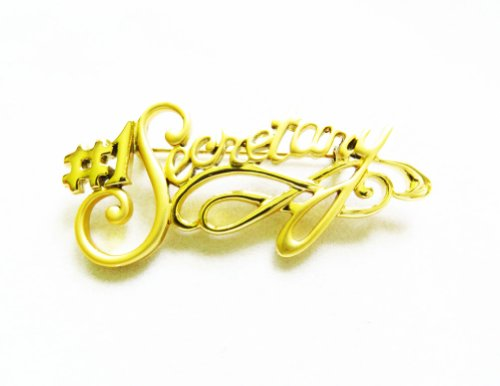(Danecraft Gold - Plated Number One #1 Secretary Pin Brooch)