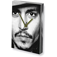 JOHNNY DEPP - Canvas Clock (A5 - Signed by the Artist) #js009