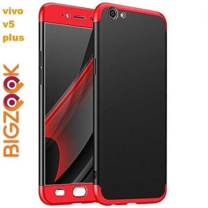 buy popular 285ac cceca BIGZOOK 3 in 1 Double Dip Hard Plastic Back Cover for Vivo V5 Plus  (Red-Black)