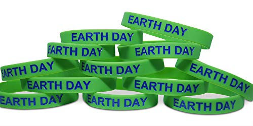 Novel Merk Earth Day Green World 12-Piece Party Favor & Carnival Prize Rubber Band Wristband Bracelet Accessory]()