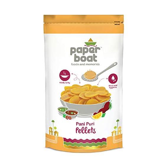 Paper Boat Panipuri Pellets I Hygienic & Tasty I Ready to Fry Pouch, 400 g