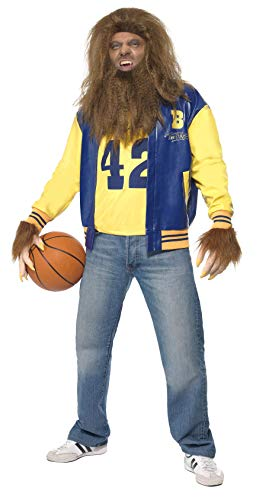 Men's Teen Wolf Costume, Jacket, Vest, Gloves, Wig & Beard