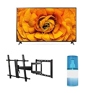 "LG 86UN8570 86"" 4K Smart Ultra High Definition Series TV with AI ThinQ with a Walts TV Large/Extra Large Full Motion Mount for 43""-90"" Compatible TV's and Walts HDTV Screen Cleaner Kit (2020)"