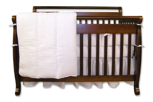 Pique Crib Bedding Set (Trend Lab Pique 4 Piece Crib Set in White)