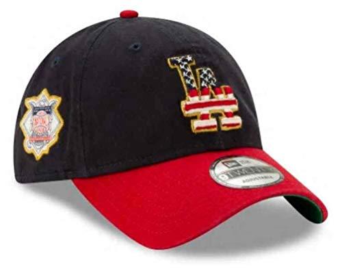 New Era 2019 MLB Los Angeles Dodgers July 4th Flag Logo Baseball Cap Hat 9Twenty Navy/Red -