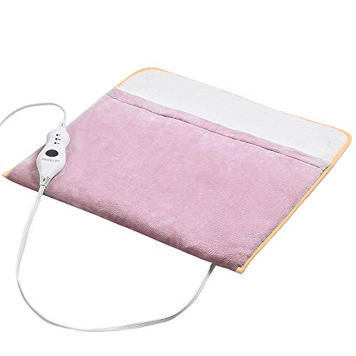 Foot Warmer Electric, Heating Pad King Size Ultra Soft Flannel, Extra Large for Bed, Abdomen, Feet, Back, Cramp, Office/Home Under Desk, 10ft Cord, Auto Off, 22