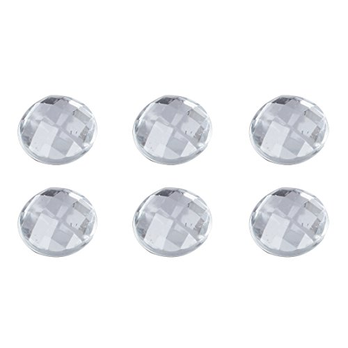 SODIAL(TM) Home Button Stickers For iPhone / iPod / iPad WHITE (6-in-1 Pack, Bling Diamond) (Button Bling Home Iphone)