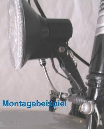 Stahl schwarz Fahrrad Scheinwerferhalter Lampenhalter Halter für V-Brake