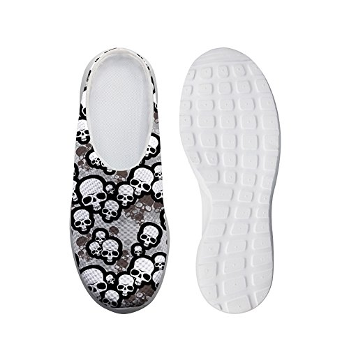 Bigcardesigns Fashion Skull Printed Slipper Summer Sandals Women Teenagers 40