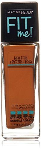Maybelline New York Fit Me Matte Plus Pore Less Foundation, Mocha, 1 Fluid Ounce
