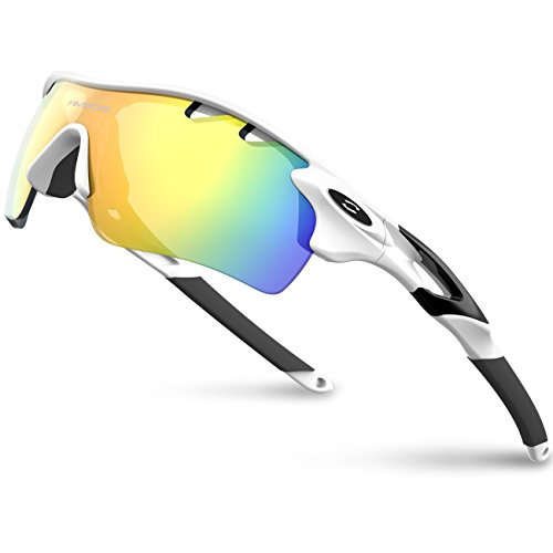 RIVBOS 801 TR90 POLARIZED Sports Sunglasses Glasses With 5